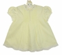 NEW Hand Embroidered Pale Yellow Dress with Pintucks, Embroidery, and Lace Trim