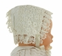 NEW Hearts Delight Ivory Silk and Venice Lace Bonnet