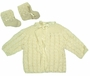 NEW Cream Custom Crocheted Sweater and Booties Set