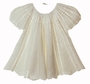 "<img src=""http://site.grammies-attic.com/images/blue-sold-1.gif""> NEW Pale Ivory Custom Crocheted Baby Dress"