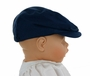 NEW Navy Blue Cotton Newsboy Hat