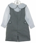 NEW Lavender Blue Black Checked Shortall with Back Belt and White shirt