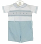 NEW Le' Za Me Blue and White Smocked Button on Shorts Set