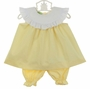 NEW Le' Za Me Yellow Pantaloon Set with White Ruffled Portrait Collar