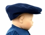 NEW Navy Blue English Wool Vintage Style Newsboy Hat