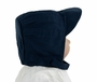 NEW Navy Cotton Pintucked Hat with Velcro Tabbed Chin Strap