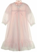 NEW Pale Pink Nylon Peignoir Set for Toddlers, Little Girls, and Big Girls