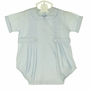 NEW Pastels by Feltman Brothers Robins Egg Blue Romper with Front Pleast and Buttoned Tabs