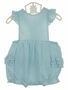 NEW Petit Ami Blue Striped Seersucker Sunsuit with Ruffle Bottom