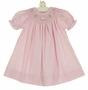 NEW Petit Ami Pink Checked Bishop Smocked Birthday Dress with Matching Diaper Cover