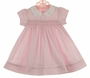 NEW Petit Ami Pink Checked Smocked Dress with Bunny Embroidery