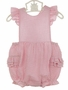 NEW Petit Ami Pink Striped Seersucker Sunsuit with Ruffle Bottom