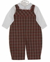 NEW Petit Ami Red and Green Plaid Longall with White Shirt