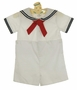 NEW Petit Ami White Button On Sailor Suit