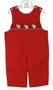 NEW Petit Bebe by Anavini Red Smocked Longall with Embroidered Santas