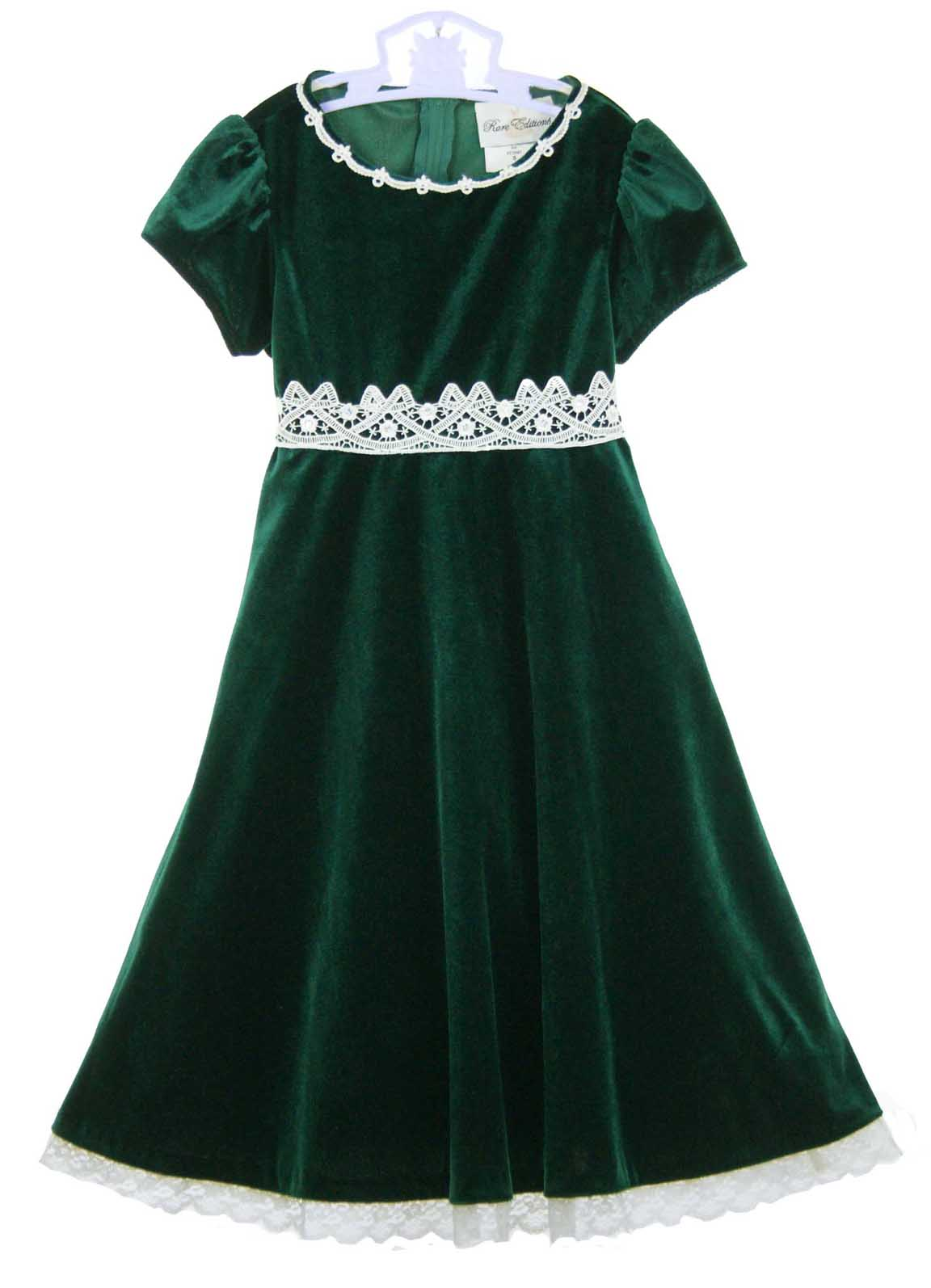 Rare Editions Christmas Dress Green Velvet Christmas Dress