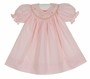NEW Remember Nguyen (Remember When) Pink Bishop Smocked Dress with Embroidered Bunnies and Matching Bloomers