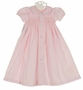 NEW Remember Nguyen (Remember When) Pink Cotton Smocked Daygown with Embroidered Rosebuds
