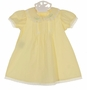 NEW Remember Nguyen (Remember When) Vintage Style Yellow Dress and Bloomers with Pintucks, Lace Insertion, and Embroidery