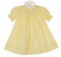 NEW Remember Nguyen (Remember When) Yellow Bishop Smocked Dress and Bloomers with Embroidery and Seed Pearls