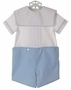 NEW Rosalina Blue and White Button on Shorts Set with Portrait Collar