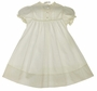 NEW Rosalina Pale Ivory Cotton Vintage Style Gown with Pintucks and Openwork
