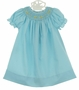 NEW Rosalina Robins Egg Blue Bishop Smocked Daygown with Tiny Peeps Embroidery