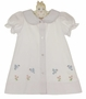 "<img src=""http://site.grammies-attic.com/images/blue-sold-1.gif""> NEW Rosalina White Daygown with Embroidered Bluebirds"