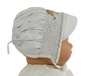 NEW Rosalina White Smocked Bonnet with Embroidered Frog