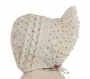 NEW Rosebud Print Bonnet with Eyelet Trimmed Face Ruffle