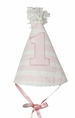 NEW Ruffle Butts Pale Pink Striped First Birthday Hat