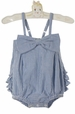 NEW Ruffle Butts Vintage Style Blue Striped Sunsuit