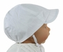 NEW Sarah Louise Classic White Boys Hat with Blue Embroidered Brim