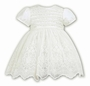 "<img src=""http://site.grammies-attic.com/images/blue-sold-1.gif"">  NEW Sarah Louise Ivory Satin Dress with Lace and Tulle Skirt"