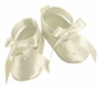 NEW Sarah Louise Ivory Silk Ballerina Style Shoes with Sequins and Pearl Trim