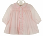 NEW Sarah Louise Pink Smocked Daygown with Ruffled Collar