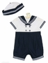 NEW Sarah Louise Navy and White Sailor Suit with Matching Hat