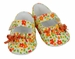 NEW Sarah Louise Orange and Yellow Flowered Ruffled Sandals