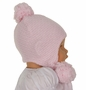 NEW Sarah Louise Pink Cotton Knit Hat