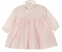 NEW Sarah Louise Pink Dress with Lace Trimmed Embroidered Yoke