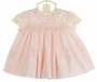 NEW Sarah Louise Pink Smocked Baby Dress with Pink Eyelet Trim