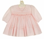 NEW Sarah Louise Pink Smocked Dress with Delicate Beading and Embroidery