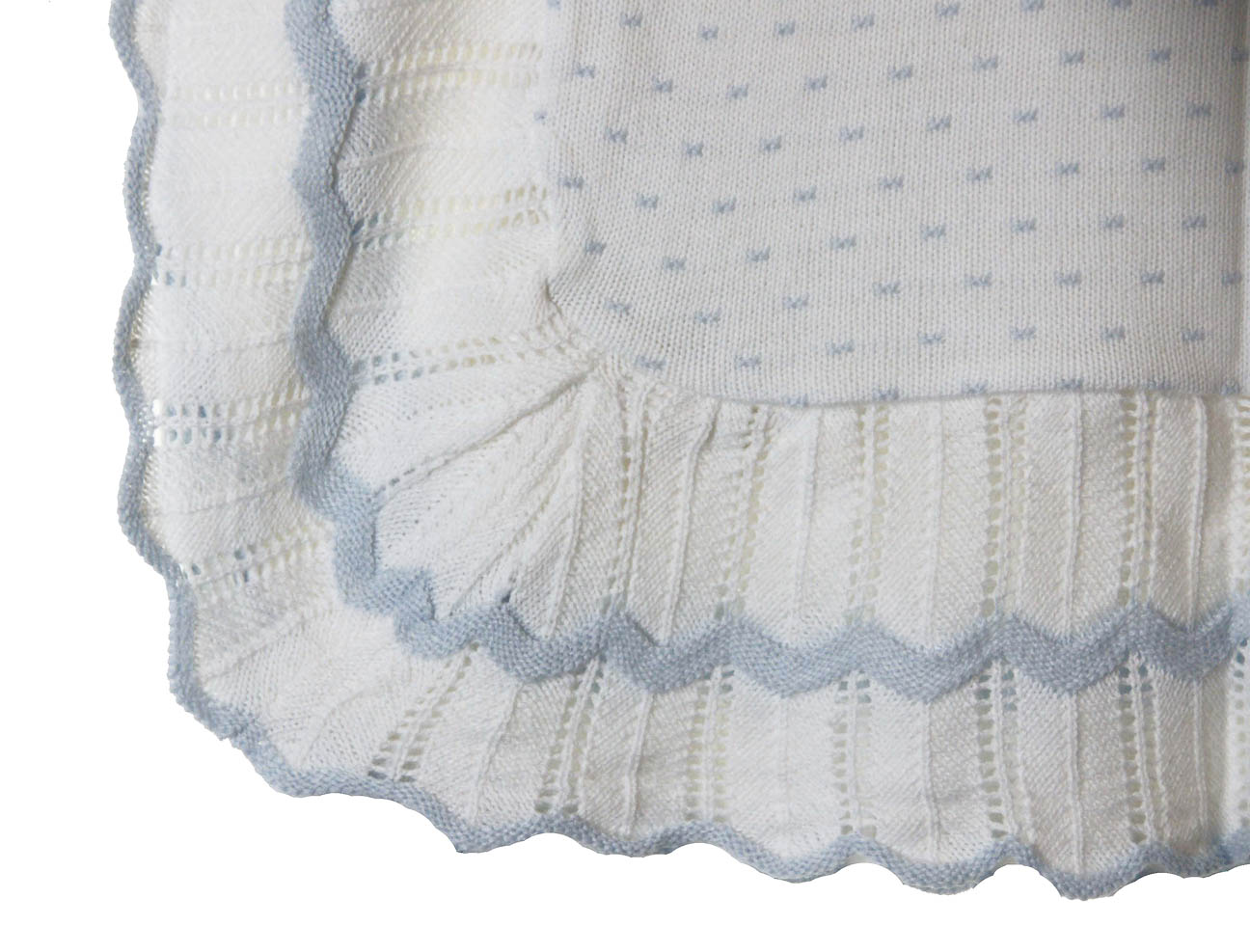 Sarah Louise Blue And White Baby Blanket Baby Boys Blanket