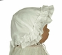 NEW Sarah Louise White Ruffled Sunhat with Bow Trim