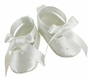 NEW Sarah Louise White Satin Ballerina Style Shoes with Sequins and Pearl Trim