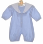 NEW Sophie Dess Blue Checked Sailor Romper with Long Sleeves
