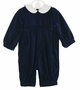 NEW Sophie Dess Navy Velvet Romper with Removable White Collar