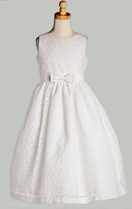 Swea Pea And Lilli White Cotton Eyelet Dress Elegant