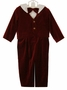 NEW Therese Burgundy Velvet Suit with Ivory Shirt and Matching Bowtie