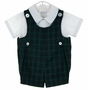 NEW Vintage Style Imp Originals Blue and Green Plaid Romper Set